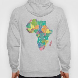 African Continent Cloud Map In Pastels Hoody