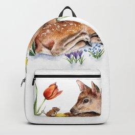 Spring Deer and Harvest Mouse Backpack