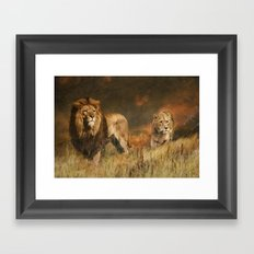 Serengeti Sunset Framed Art Print