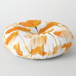 Orange Poppies On A White Background #decor #society6 #buyart Floor Pillow