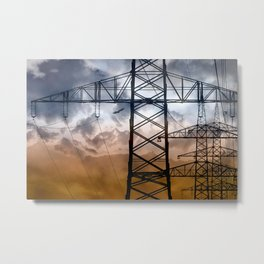 Transmission tower Metal Print
