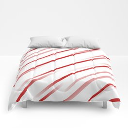Delusional Red Stripes Comforters