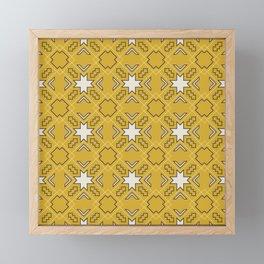 Ethnic pattern in yellow Framed Mini Art Print
