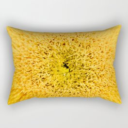 Teddy Bear Sunflower Petals Rectangular Pillow
