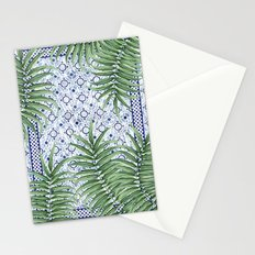 Moroccan tiles and palm leaves Stationery Cards