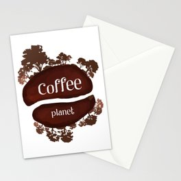 Welcome to the Coffee planet - I love Coffee Stationery Cards