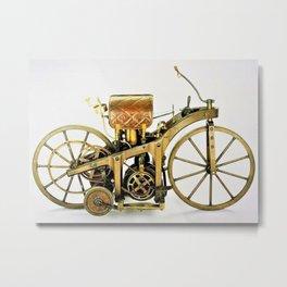 1885 Daimler-Maybah Reitwagen riding car - world's first motorcycle Metal Print