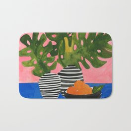 Pink Wall Monstera Bath Mat