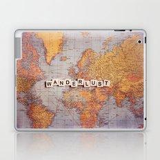 wanderlust map Laptop & iPad Skin