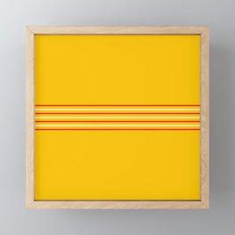 Filigree Thin Stripes on Yellow Framed Mini Art Print