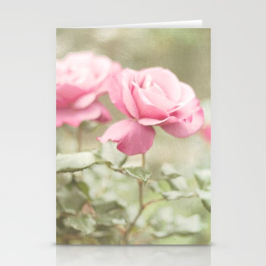 Textured and Pastel roses (vintage flower photography) Stationery Cards