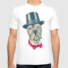 I'm too SASSY for my hat! White MEDIUM Mens Fitted Tee