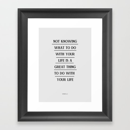 Notknowing Framed Art Print