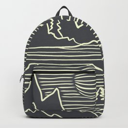 A Perfect Adventure - Outdoor Abstract Grey Backpack