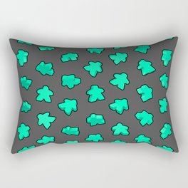 Mint Game Meeples Rectangular Pillow
