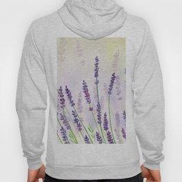 Lavender Flowers Watercolor Hoody