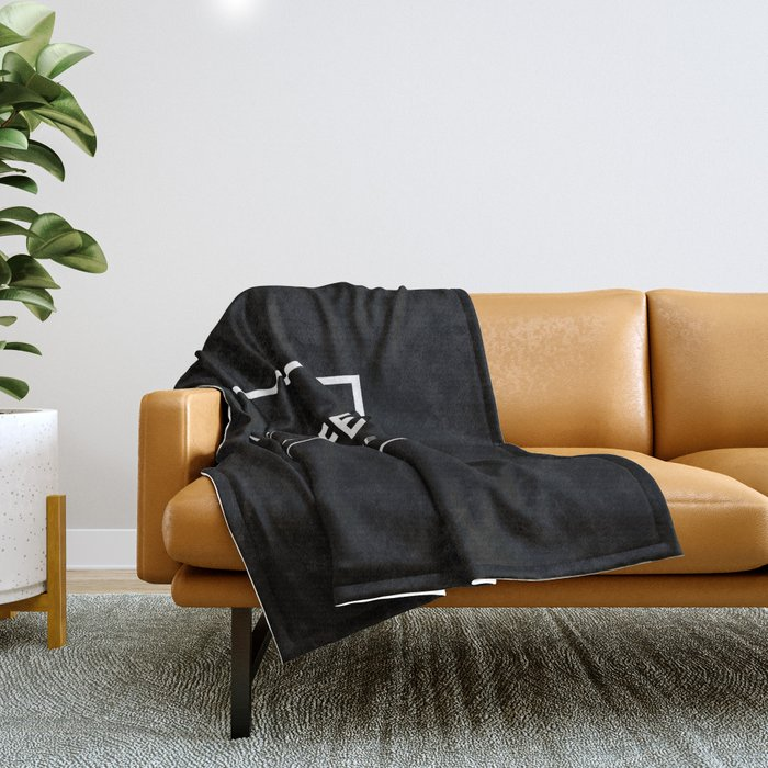 Black Coffee No5 Throw Blanket