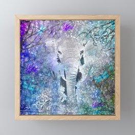 ELEPHANT IN THE STARRY LAKE Framed Mini Art Print