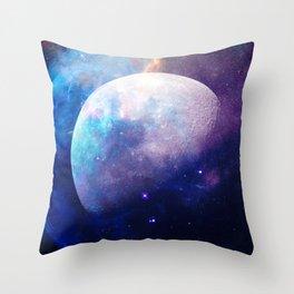 Galaxy Moon Space Throw Pillow