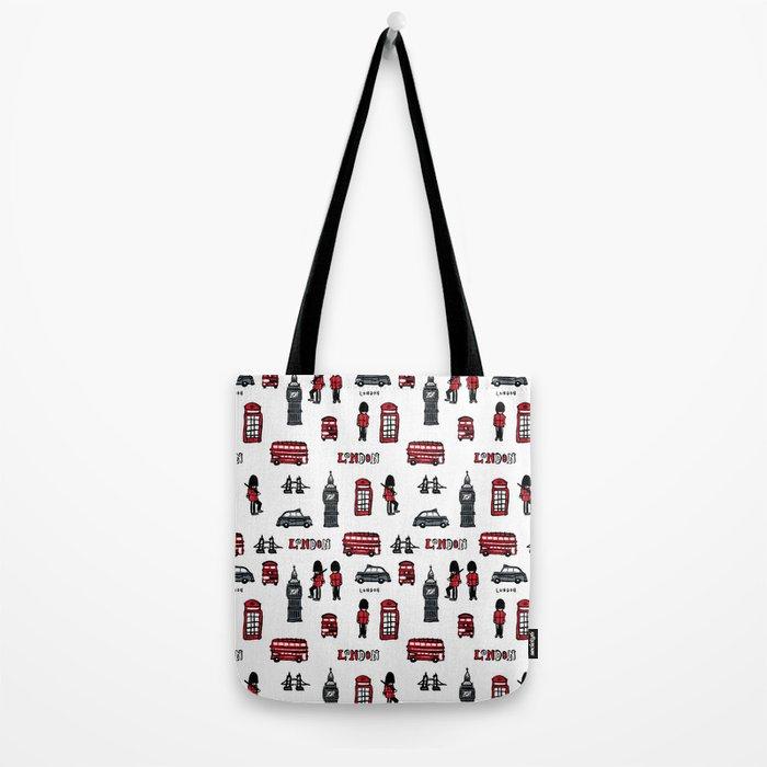 London icons illustration Tote Bag