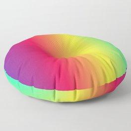 rainbow abstract Floor Pillow