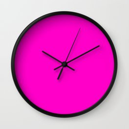 Fluorescent neon pink | Solid Colour Wall Clock