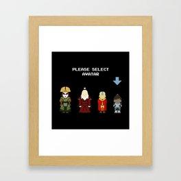 Avatar Selection Screen Framed Art Print