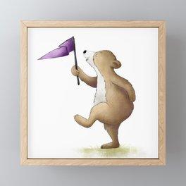 Bear Illustration Framed Mini Art Print