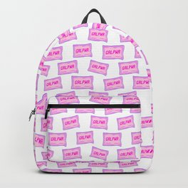 #GRLPWR Girl power White Backpack