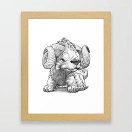 The South Highland Ram Dog Framed Art Print