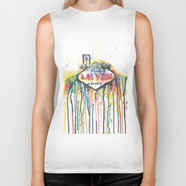 Las Vegas Neon Jungle Biker Tank