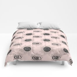 Eye of wisdom pattern - Pink & Black - Mix & Match with Simplicity of Life Comforters