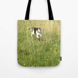Happiness is running wild and free, and not letting your feet touch the ground! Tote Bag