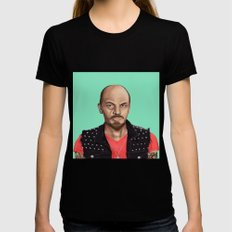 Hipstory -  Lenin Black SMALL Womens Fitted Tee