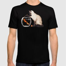 Goldfish need friend Mens Fitted Tee LARGE Black