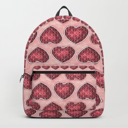 Wine Colored Hearts Backpack