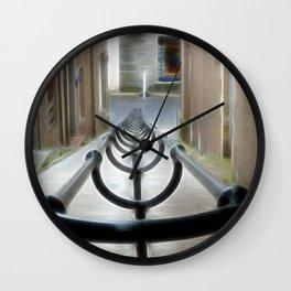 Lerwick Lanes, Shetland Isles Wall Clock
