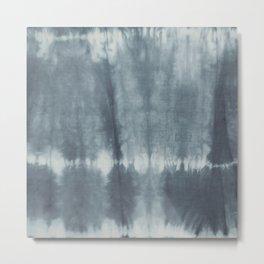 Tye Dye Gray Metal Print