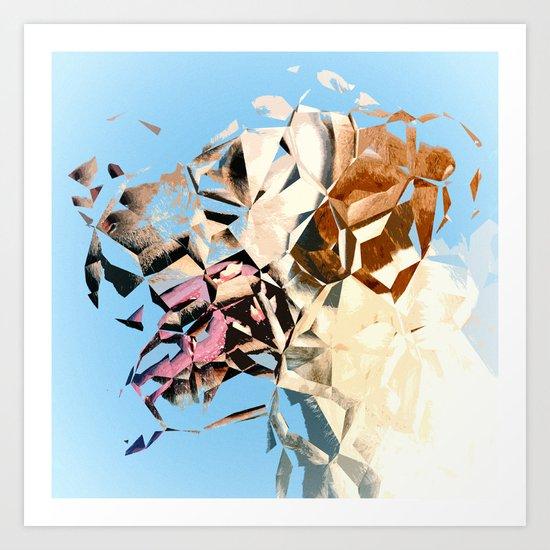abstract dog Art Print