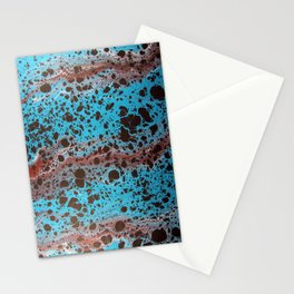 Robin Egg Shell Water Marbling Stationery Cards