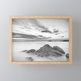 Seascape of calm waters Framed Mini Art Print