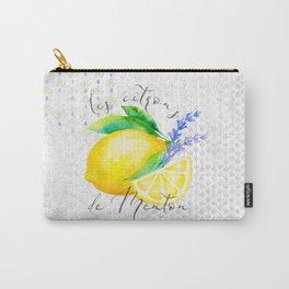 Les Citrons de Menton—Lemons and Lavender, Provence Carry-All Pouch