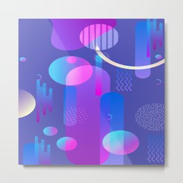 Purple Galaxy Type Abstract Design Metal Print