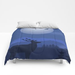 Mystical Night in the Mountains Comforters