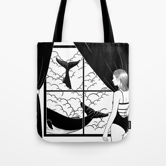 Flying in the ocean, Swimming in the sky Tote Bag