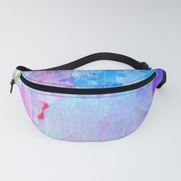 Abstract Candy Glitch - Pink, Blue and Ultra violet #abstractart #glitch Fanny Pack