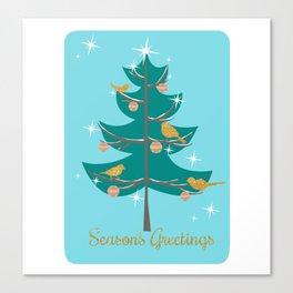 Mid Century Christmas Tree Canvas Print