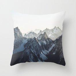 Mountain Mood Throw Pillow