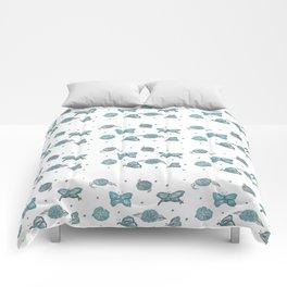 Butterfly flutterby blue petite Comforters