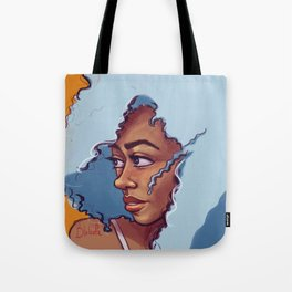 Blue Haired Bombshell Tote Bag